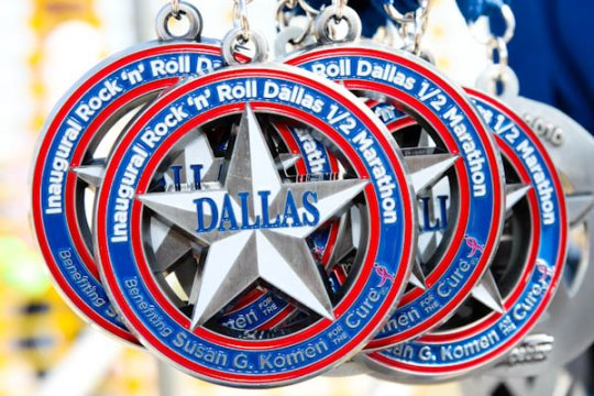 Rock n Roll Dallas Half Marathon 2010 Medals