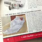 Bedbug sleeping cocoon from Skymall catalog