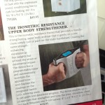 Isometric resistance upper-body strengthener from Skymall catalog