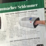 Reflexology massager from Skymall catalog