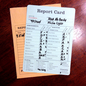 Micha Report Card